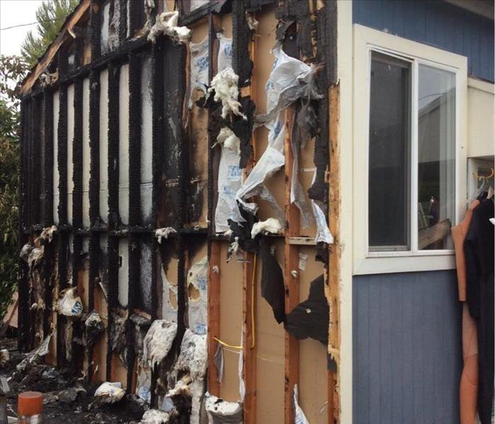 Structural Damage to a Home is Carson cause by Fireworks