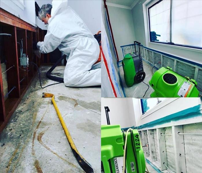 SERVPRO employee performing mold remediation