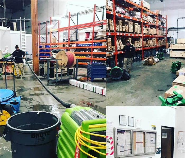 SERVPRO Green drying equipment